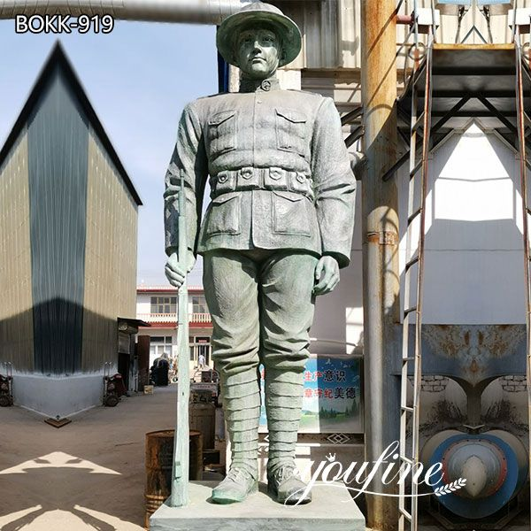 Custom Large Bronze Soldier Statue for Sale