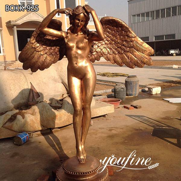 Custom Life Size Dancing Angel Bronze Statue for Garden Decor for Sale BOKK-925