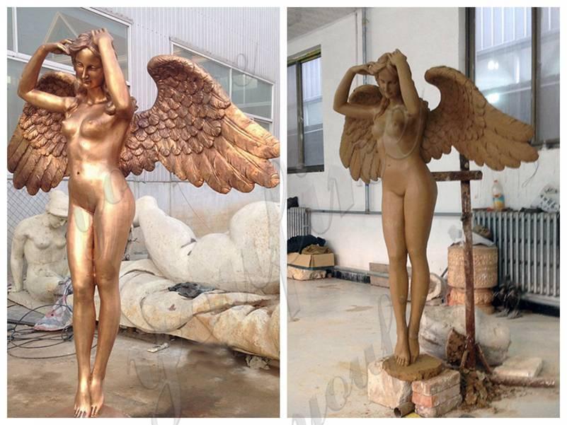 Custom Life Size Dancing Angel Bronze Statue for Garden Decor