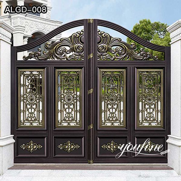 Decorative Aluminum Gate Villa Doors for Sale ALGD-008