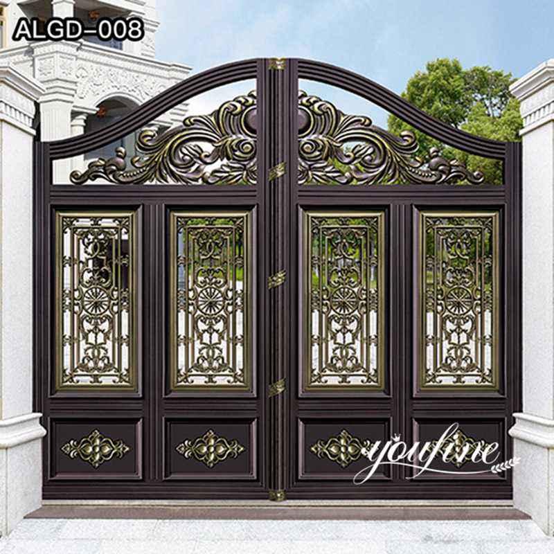 Decorative Aluminum Gate Villa Doors for Sale ALGD-008