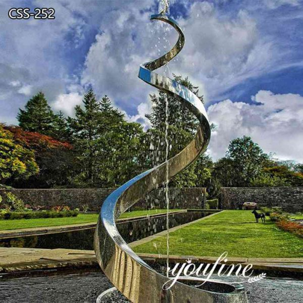 Decorative Artistic Outdoor Metal Sculpture Fountain Garden for Sale