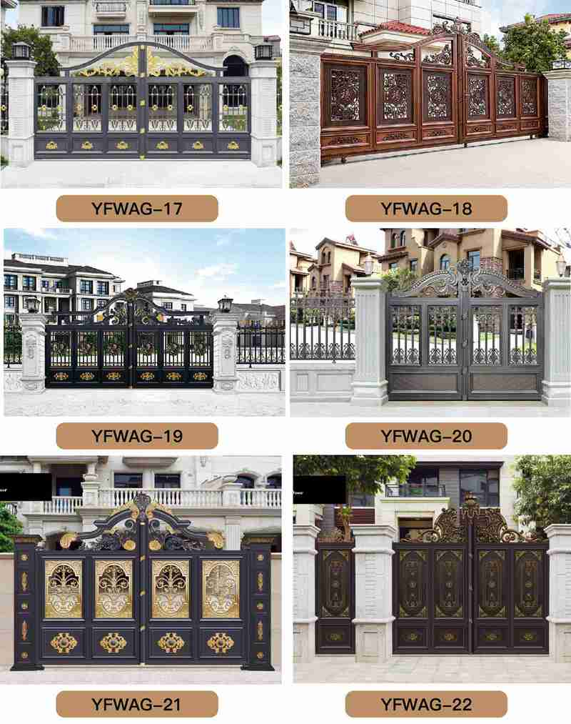 Decorative Casting Aluminum Gate Accessories and Fence Design for Sale