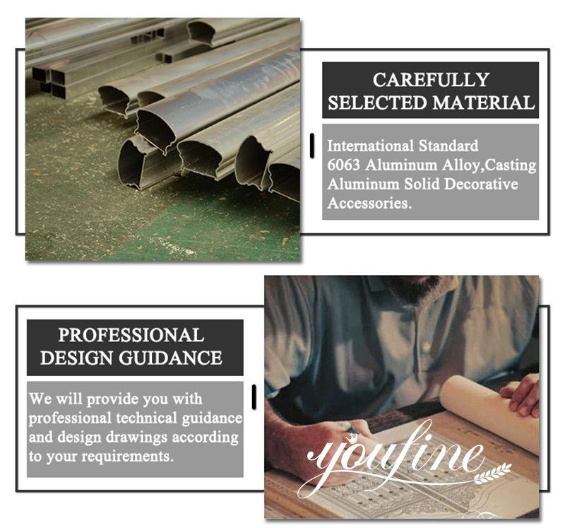 Decorative Casting Aluminum Gate Accessories and Fence Design for Sale Profession