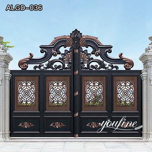Driveway Decoration Aluminium Leaf Gate Sale ALGD-036