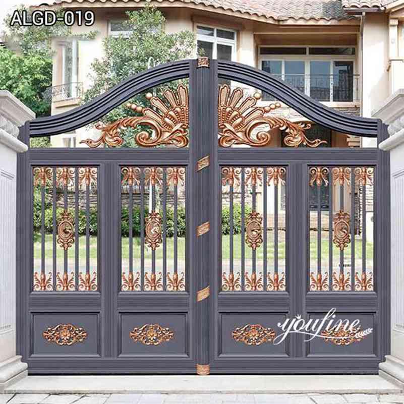 Entrance Decor Beautiful Aluminum Driveway Gate Door for Sale ALGD-019