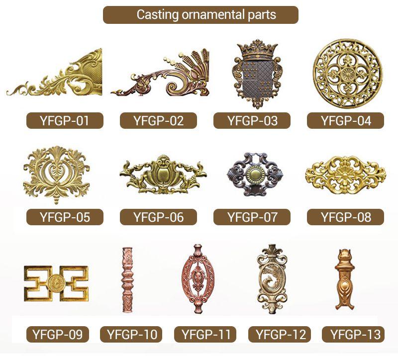 European Style Aluminium Gate for Courtyard Supplier ornamental pattern