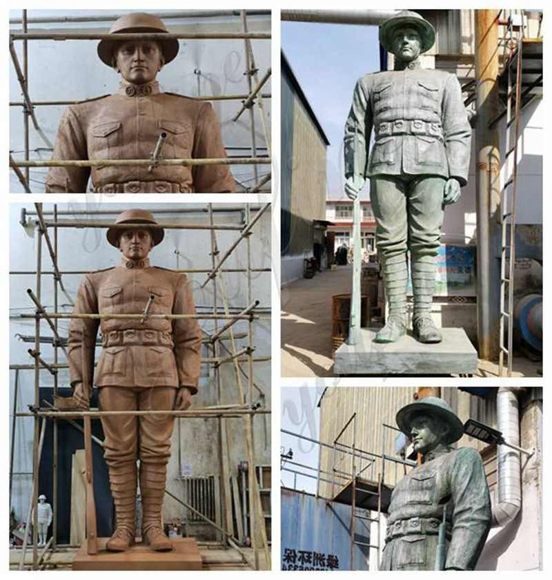 Feedback Large Bronze Soldier Statue for American Client