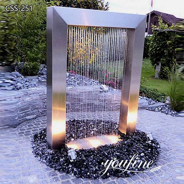 Garden Decor Stainless Steel Outdoor Fountain Sculpture for Sale CSS-251