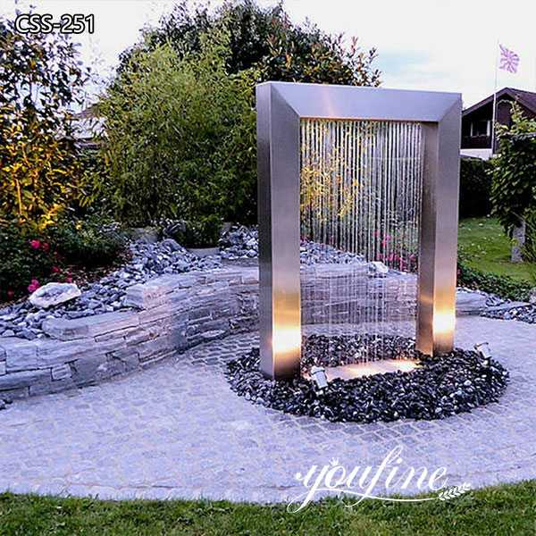 Garden Stainless Steel Outdoor Fountain Sculpture for Sale