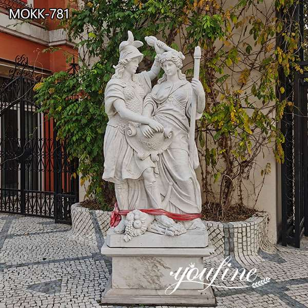Hand Carved Life Size Figure Marble Garden Statue for Sale MOKK-781