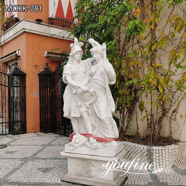 Hand Carved Life Size Figure Marble Garden Statue