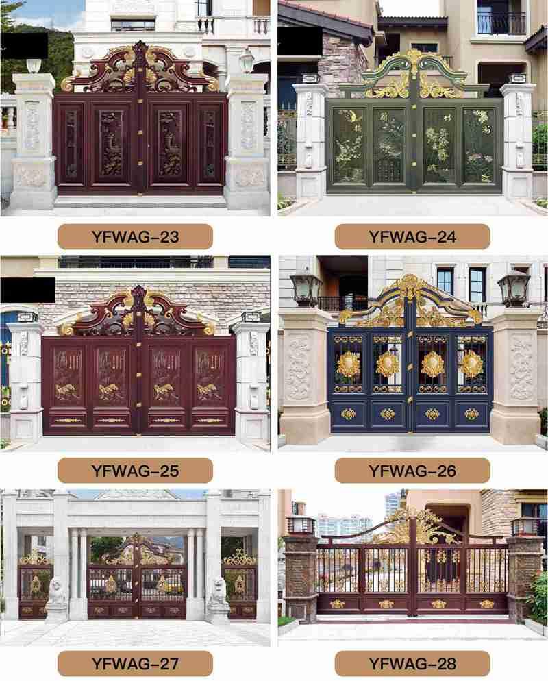 Hot Sale Quality Aluminum Fence Gate Design for Sale More Designs