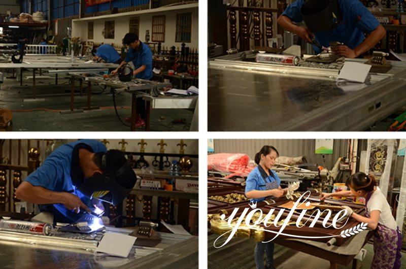 Hot Sale Quality Aluminum Fence Gate Design for Sale Production Process