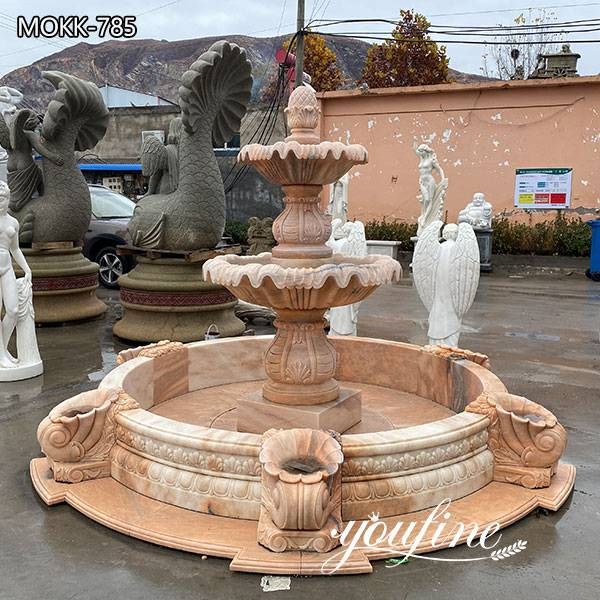 Hotel Decor Two Tiered Marble Water Fountain for Sale