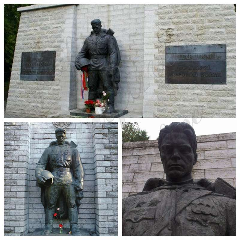Large Bronze Military Soldier Statue for Memorial Park