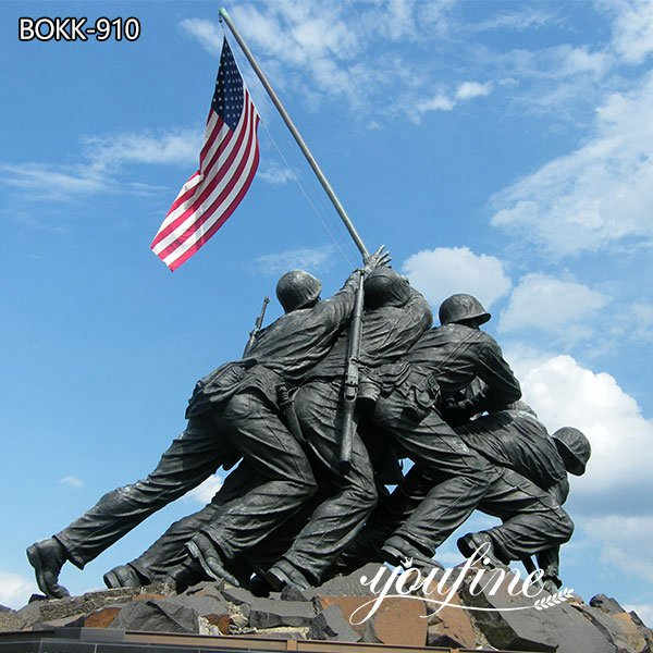 Large Bronze Military Statues US Marine Corps Memorial