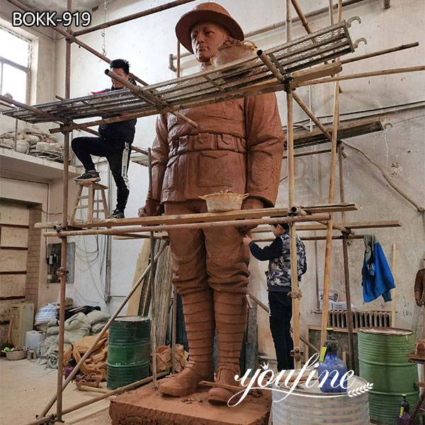 Large Bronze Soldier Statue Outdoor Military Statues