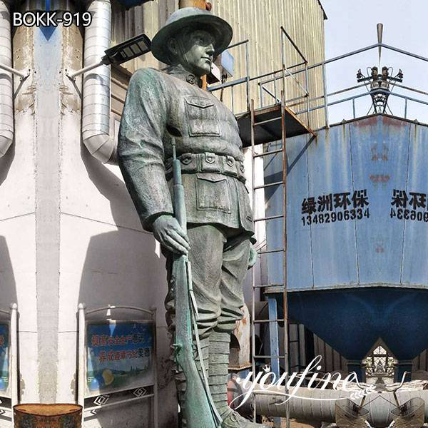Large Bronze Soldier Statue Outdoor Military Statues for Sale