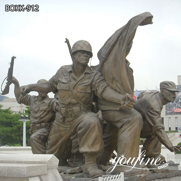 Large Bronze War Memorial Outdoor Military Statues