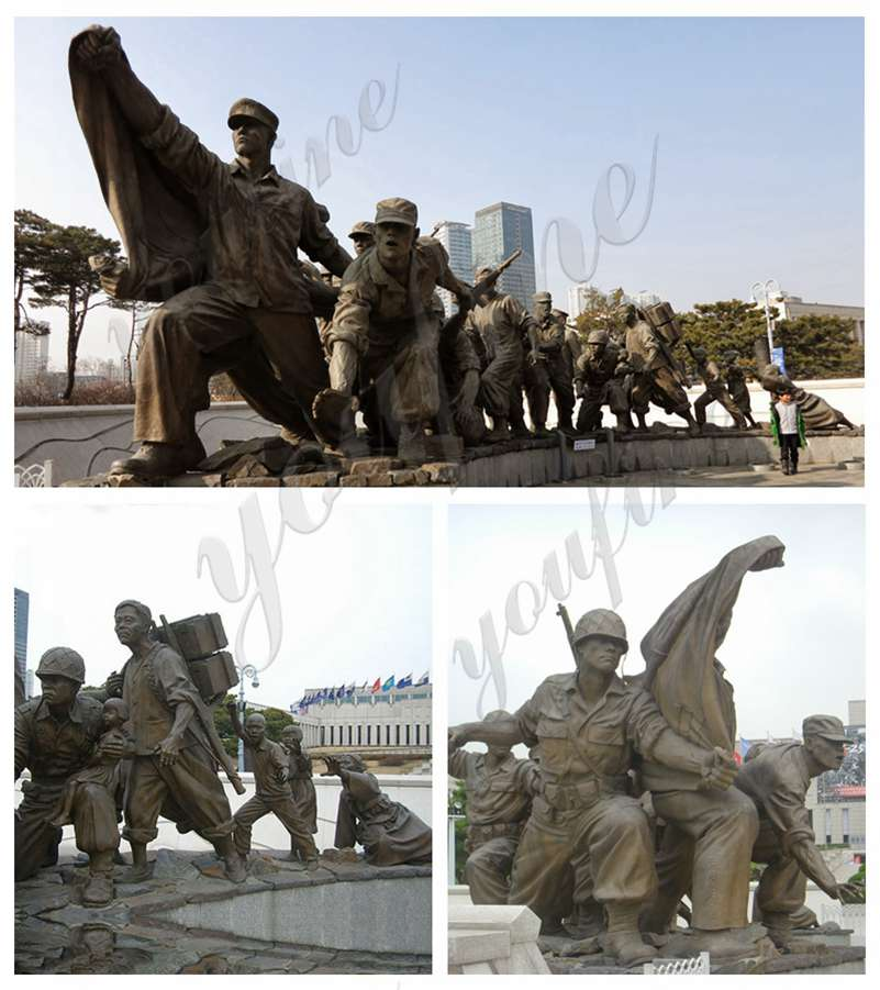 Large Bronze War Memorial for Sale