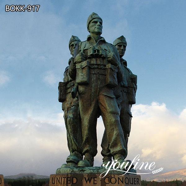 Large Commando Memorial Bronze Soldier Statue for Sale