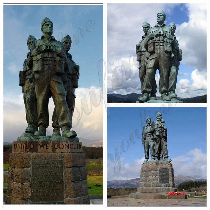 Large Commando Memorial Bronze Soldier Statue