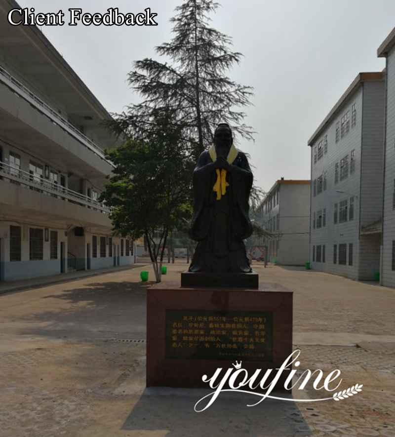Large Confucius Bronze Statue Custom Bronze Sculptures for Sale