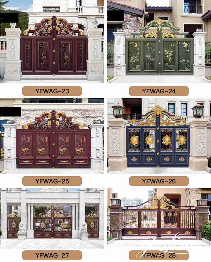 Large Gate Driveway Gates for Home Decor for Sale ALGD-025
