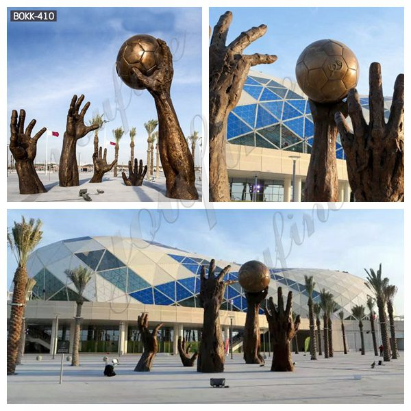 Large Handball Bronze Sculptures for Public Park for Sale