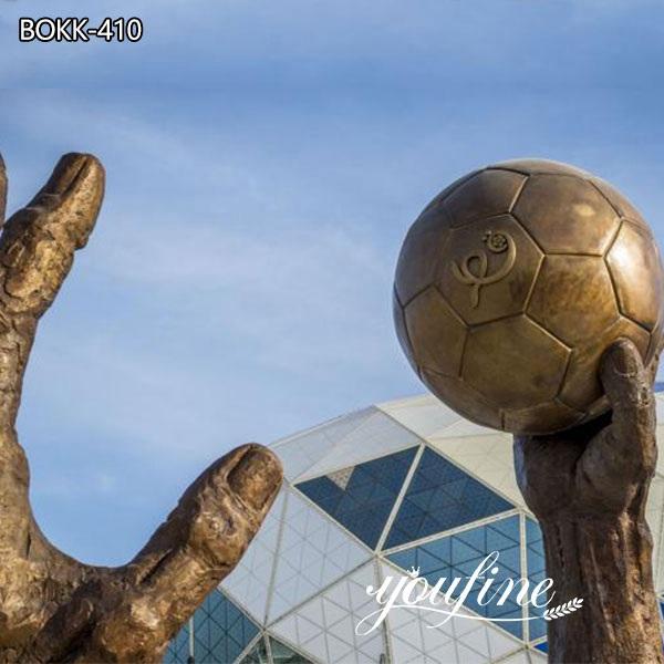Large Handball Outdoor Bronze Sculptures for Public Park for Sale
