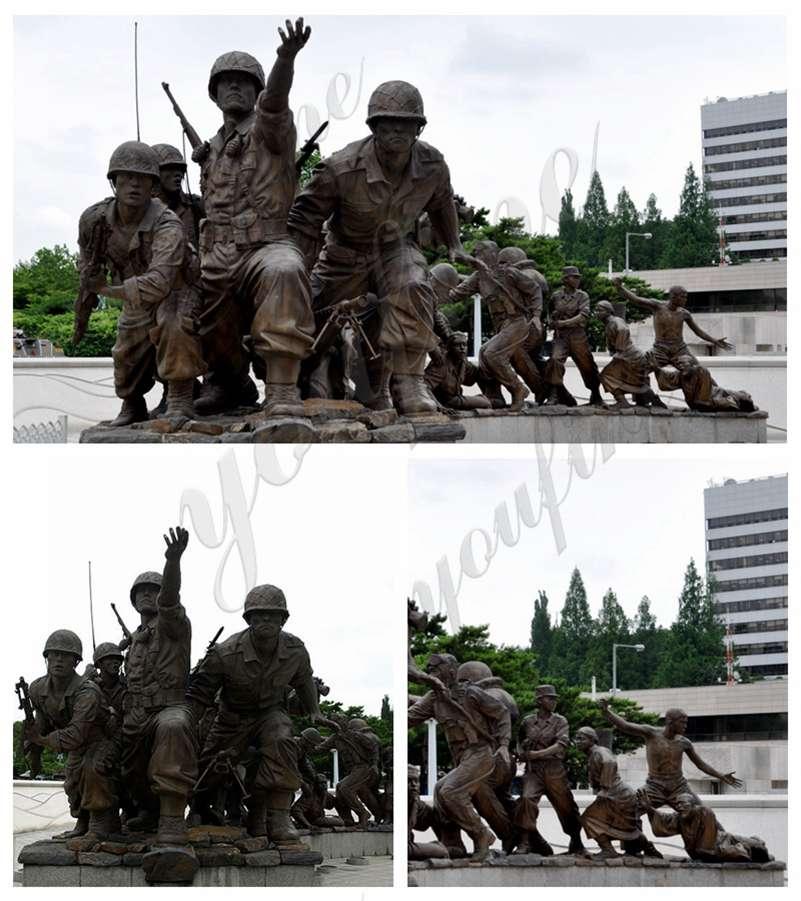 Large War Memorial Military Bronze Statue for Sale