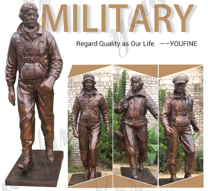 Large War Memorial Military Bronze Statue
