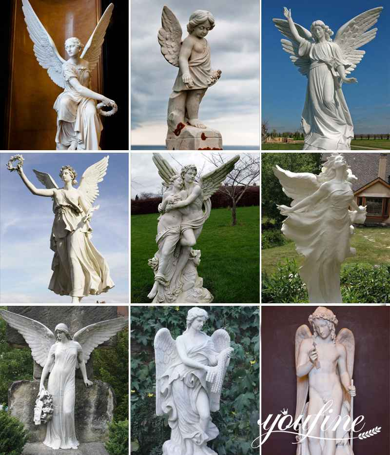 Life Size Angel Marble Statue for Sale
