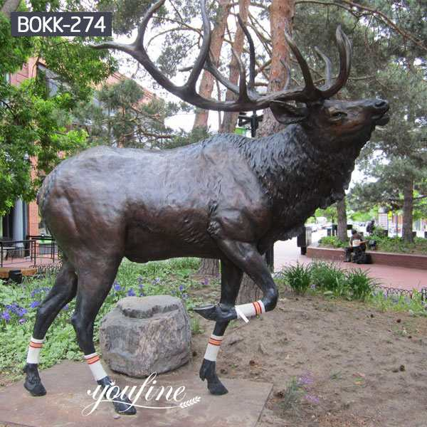 Life Size Bronze Elk Statue Garden Decor for Sale BOKK-274