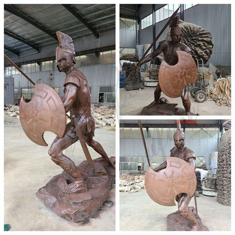 Life Size Bronze Spartan Soldier Statue
