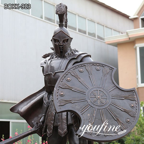 Life Size Bronze Spartan Warrior Outdoor Military Statues