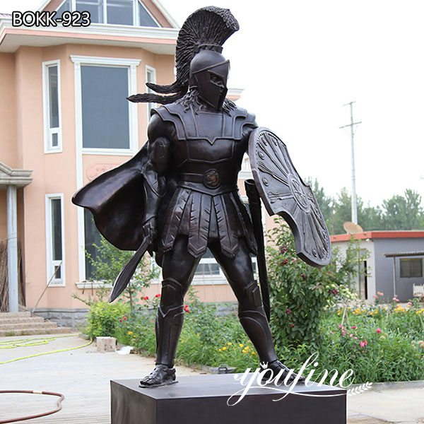 Life Size Bronze Spartan Warrior Statue Outdoor Military Statues for sale BOKK-923