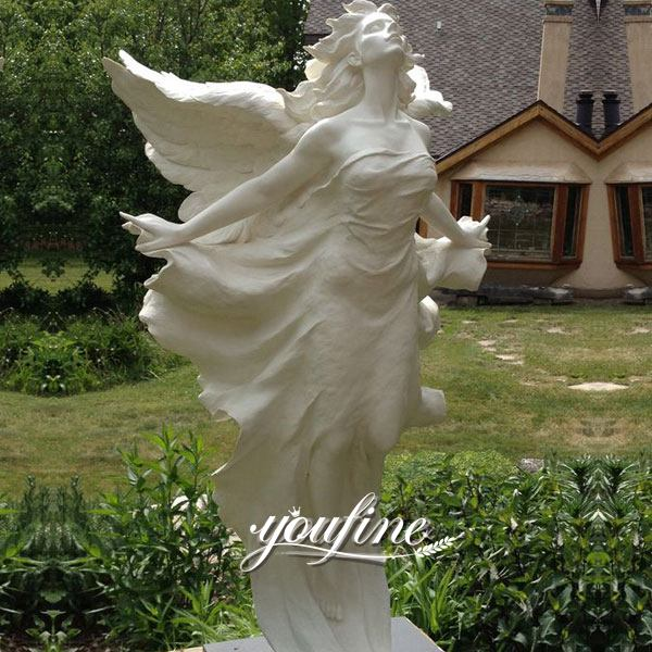 Life Size Angel Marble Statue Square Decoration for Sale MOKK-293