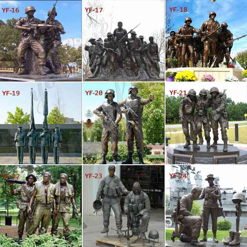 Life Size Military Bronze Statue Soldier fo