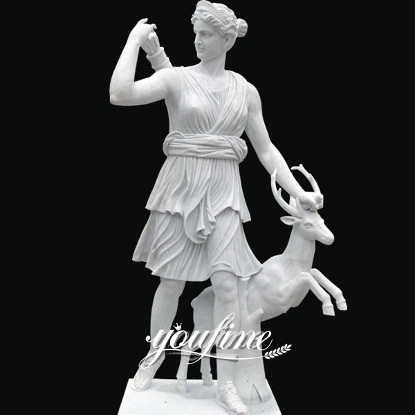Life Size Artemis Huntress White Marble Statue for Sale MOKK-306