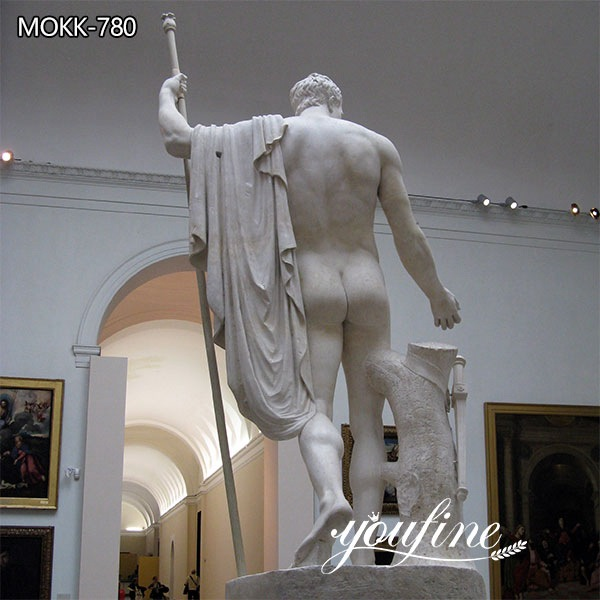 Marble Napoleon as Mars the Peacemaker Statue for Sale