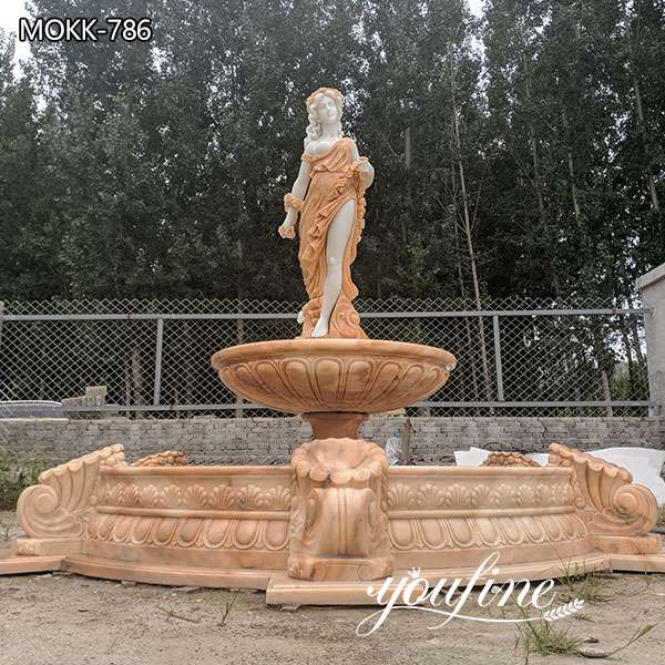 Marble Outdoor Water Fountain Female Statues for Sale