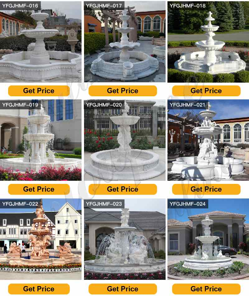 Marble Outdoor Water Fountain Statues