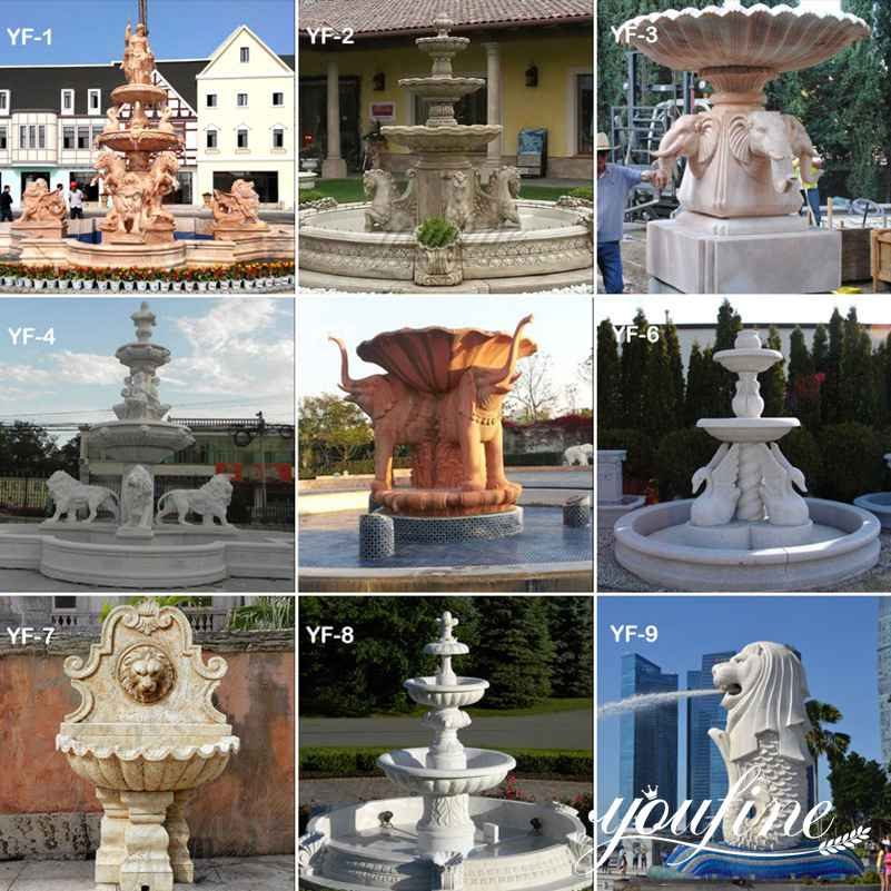 Marble Outdoor Water Fountain Statues for Sale