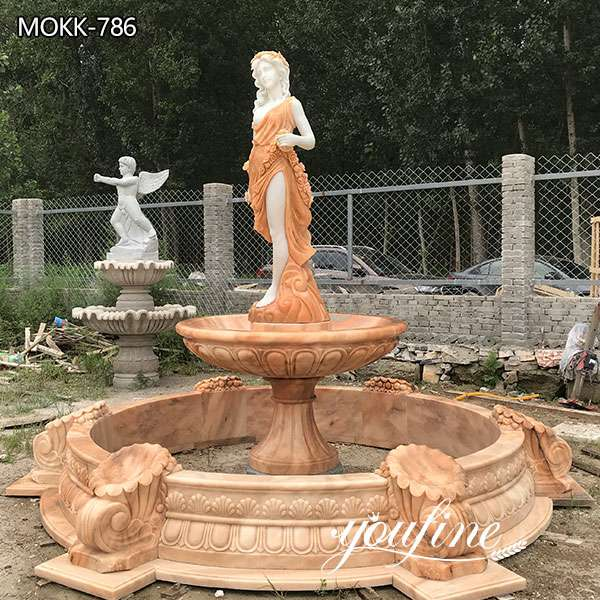 Marble Water Fountain Female Statues for Sale