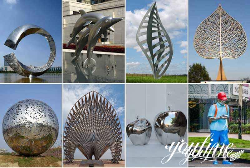 Metal Fountain Sculpture Hotel Garden