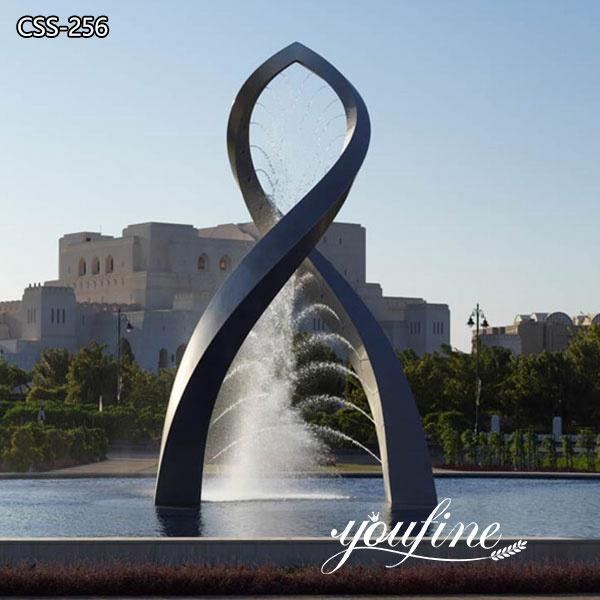 Metal Water Fountain Sculpture Decorative Art for Sale