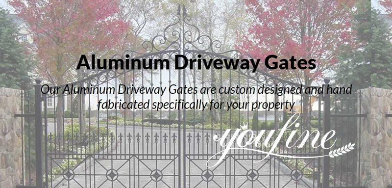 Modern Aluminum Fence Gate Designs for Sale ALGD-004