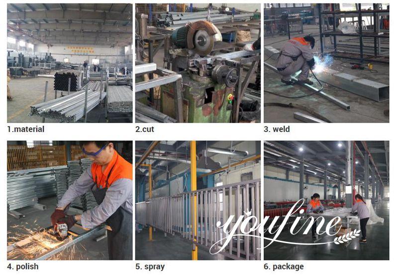 Modern Aluminum Fence Gate Designs for Sale Production Process
